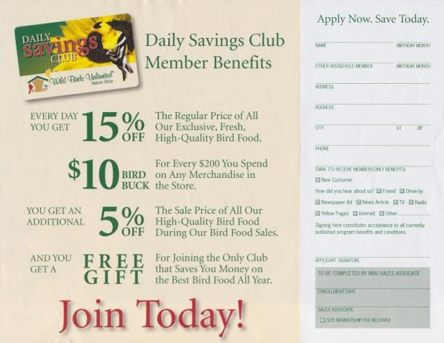 Daily Savings Club Form Sm